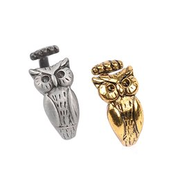 Wholesale American Owls - 2018 New Arrival of Animal Series Rings,Lovely owl Shaped Metal Rings in Jewelry Resizeable for ALL Cute ZJ-0903590