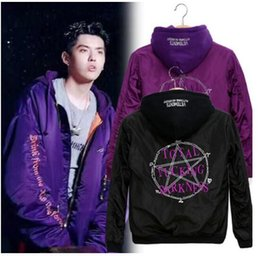 Wholesale Wind Pilot - Explosive tide brand vetements palace embroidery pentagram magic array MA1 tactical bomber pilot jacket men and women with the wind jacket