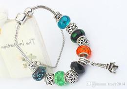 Chaude 925 Argent Plaqué Fit Femme Tour Eiffel Charmes Bracelets DIY Unique Avec Perlé pour pandora cristal bracelets charme petits pendentifs ? partir de fabricateur
