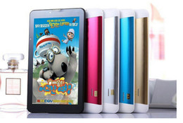 Wholesale Tablet Supports Sim Card - 7 inch dual core 3G Tablet pc Support 2G 3G Sim card slot Phone call GPS WiFi FM tablet pc 7 Inch 3G Phone Call Tablet MTK6572