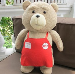 Wholesale Teddy Film - Heavy taste of base teddy bear American film ted hold bear doll Plush toy doll