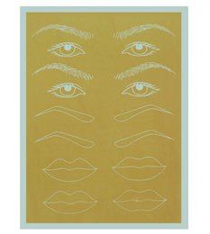 Wholesale Cosmetic Makeup Practice Skins - 10pcs lot tattoo practice skin permament makeup cosmetic tattoo training paper for eyebrow lips 20*15cm