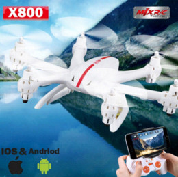 Wholesale Mjx Camera Free Shipping - Free shipping MJX X800 RC helicopter drones quadcopter with C4010 Wifi FPV HD Camera add 4pcs battery AS gift VS Syma X5SW  X400