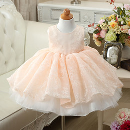 Wholesale Christmas Discount Clothing - Discount Elegant Kids Baby Girl Dress Tutu Infant Pageant Clothes Princess Birthday Party Dress with Lace