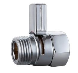 Wholesale Brass Handheld Bidet - Bathroom Accessories Brass Shut Off Valve Chrome Finish Stop Water Plumbing Switch for Handheld Shower Bidet Sprayer