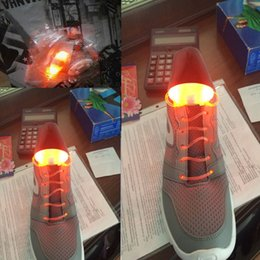 Laço de sapato laranja levou on-line-10pcs (5 pares) Laranja cor el Led cadarços luminescentes acender néon luz até laços de sapato
