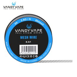Wholesale Wire Mesh Wholesalers - authentic vandyvape mesh wire KA1 80mesh 2.8ohm ft Ni80 100mesh 1.8ohm ft SS316L 150mesh 5ft 1.2ohm ft stainless steel wire vandy vape