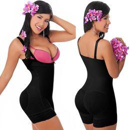 Wholesale Sexy Bodysuits Plus Size - Wholesale-Sexy Womens Zipper Underbust Bodysuit Shaper Padded Butt Lifter Waist Cincher Shapewear Plus size Waist Training Corset 731