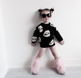 Wholesale Cardigan Sweaters For Children - 2016 INS Children's Cothing For Boys girls Sweater Pullover Lips Exclusive Paternity Sweater Children Sweaters Adult Apparel Kids Costumes