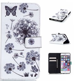 Wholesale Leather Flower Wallet - For iphone 6 6S Plus 5 5S SE Wallet PU Leather TPU Phone Case Flower Cartoon Patchwork Cover Card Slots Money Pocket