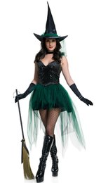 Wholesale Adult Womens Halloween Costumes - Adult Rubie's Dreamgirl Halloween Concepts Womens Sexy Witch Costume Fancy Party Cosplay Dress VLS6891 M,L