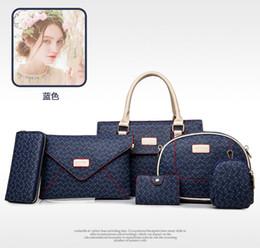 Wholesale Large Tote Patterns - new Ms. 6pcs lot picture-bone pattern women shoulder bag diagonal handbagsmessenger bags purse wallets