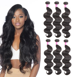 Wholesale Virgin Brazilian Hair Best Products - Top 10 Best Selling Products Brazilian Virgin Hair Body Wave Hair Weaves Remy Human Hair Extensions Mixed Length Wet Wavy Dyeable Wefts