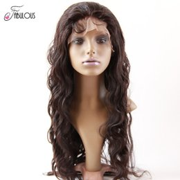 Wholesale Dhl Lace Wigs - Real Brazilian Body Wave Virgin Human Hair Full Lace Wigs 10-24inch Unprocessed Natural Color High Quality Human Hair Wigs DHL Freeshipping