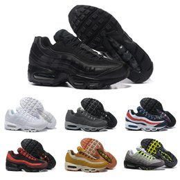 Wholesale Drop Shipping Boots - Drop Shipping Wholesale Running Shoes Men Air Cushion 95 Sneakers Boots Authentic 2016 New Walking Discount Sports Shoes Size 40-46