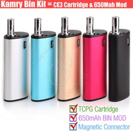 Wholesale Dhl Portable - Authentic Kamry BIN 510 cartridge Vape pen Thick Oil BUD CE3 PE Tank BIN Box Mod Portable Mini kits Atomizers Portable Mini Vaporizers DHL