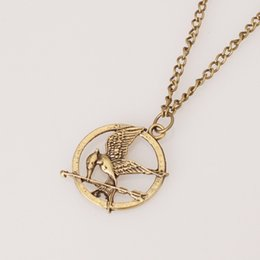 Wholesale Authentic Props - Necklaces Inspired Mockingjay And Arrow Pendant Necklace, Authentic Prop imitation Jewelry Katniss Movie The Hunger Games ZD077B