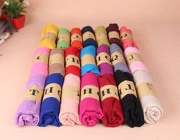 Wholesale Cheap Pashmina Scarves Shawls - Cheap 18 Colors Solid Pashmina Linen Scarves Pretty Women's Shawls Plain Ladies Wraps Soft Fringes Autumn Scarf For Ladies Size 180*90 CM