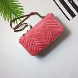 Wholesale Cm Green - Marmont velvet shoulder bag Women Luxury brand designer bags 6 Style size 22*13*6 cm model 184199120
