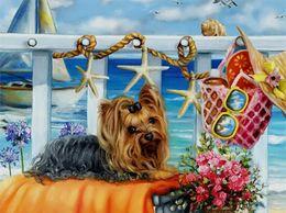 Wholesale Cross Stitch Dogs - mural Crafts Embroidery mosaic Unfinished 3d Diamond Painting 5d diy Full diamond Cute dog Rhinestone home Decor cross Stitch