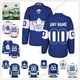 Wholesale Hockey Jersey Toronto - Stitched Custom Toronto Maple Leafs mens womens youth kids OLD BRAND White Green Home Royal Blue 2017 Centennial Third Hockey Jerseys S-4XL
