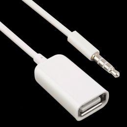 Moda 3.5mm Erkek AUX Ses Tak Jack USB usb uzatma kablosu 2.0 Dönüştürücü Kordon Kablo Araba MP3 OTG Ücretsiz DHL nereden otg kablosu tedarikçiler