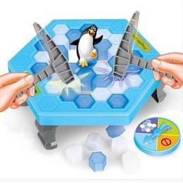 Wholesale penguin games - New Penguin Trap Rescue Icebreaker Save The Penguin Tbale Entertainment Toy Penguin Game Toy Parent- child Tbale Entertainment Toys