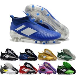 Wholesale White Color Boots - 2017 Cheap Online Wholesale New Arrivals 14 color Ace17+ Purecontrol Football Boots high quality blackout soccer Cleats cheap Soccer Shoes