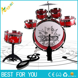 Wholesale Cymbals Children - Kids Junior Drum Kit Children Tom Drums Cymbal Stool Drumsticks Set Musical Instruments Play Learning Educational Toy Gift
