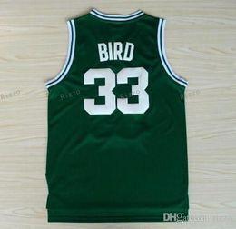 Wholesale Bird White - #33 Larry Bird Jerseys,Indiana State Sycamores Larry Bird College 1992 Dream Team Sport Jerseys White Blue Green
