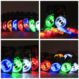 Wholesale Light Up Shoelace Glow - 30pcs(15 pairs) Waterproof Luminous LED Shoelaces Fashion Light Up Casual Sneaker Shoe Laces Disco Party Night Glowing Shoe Strings