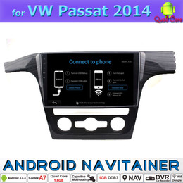 Wholesale Android Car Gps Vw - Big Screen Car Stereo Player VW Passat Android Car Dvd Glonass GPS Navigation RDS Radio OBD Tv Wifi Sd