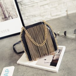 Wholesale Black Crossbody Fringe Purse - New Vintage Bohemian Fringe Messenger Crossbody Bags Purses Women Shoulder Tassel Boho Hippie Tote Handbag Womens