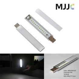 Wholesale Smd3528 Led Tube - Super bright USB Portable Strip Night Light SMD3528 Mobile Power LED Tube 5v DC Protect Eyes for Dormitory Keyboard Reading