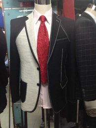 Wholesale Wedding Full Suit Men - Custom Made Full Canvas Groom Tuxedo Tailored Preium Formal Suit Designed High Quality Wedding Suits For Men 3 Pieces (Jacket+Pants+Vest)