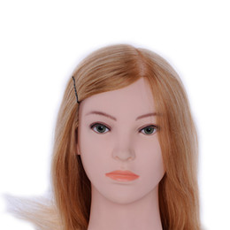 """Wholesale Hairdressing Mannequin Training Head - 25"""" Hairdressing Training Head Mannequin Professional Styling Head High Temperature Fiber Hair 100 High Temperature Fiber Hair"""