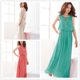 Clássico Hot Bohemia cor sólida flouncing elegante vestido longo Vestido DFML116, frete grátis ummer vestidos para mulheres de