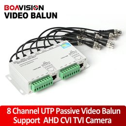 Wholesale Active Video Receiver - SURGE 8 Channel Active Passive 8Ch Video Balun ROHS Transmitter Receiver 8Ch UTP Cat5 RJ45 Support 720P 1080P HDCVI CVI TVI Camera