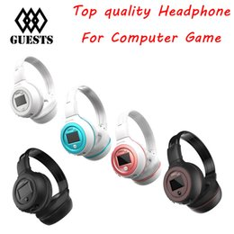 Wholesale Headphones Bluetooth Radio - Zealot B570 Bluetooth earphone Wireless Stereo Headphone Stereo Handsfree Headband Earphone With Mic, FM Radio, TF Card Slot retail box New