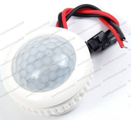 Wholesale Switch Led Auto Lighting - NEW Smart PIR Sensor Switch 220V 50HZ Infrared Human Body Induction Light Control Motion Detector Ceiling LED Lamp Bulb Auto On Off MYY
