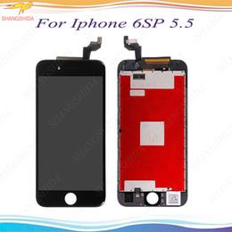 accessori per telefoni cellulari Sconti LCD per iPhone 6S più Front Assembly 5.5 pollici 6sp LCD Display Touch Screen Digitizer Vetro di ricambio con telaio centrale