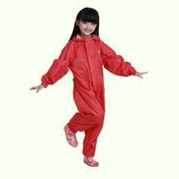 Wholesale Long Winter Coats For Boys - Winter Raincoat Sets For Children Kids One Piece Rainsuit Boys Girls Waterproof Rain Poncho Coat Pants Capa De Chuva Child Chubasquero Mujer