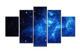 Wholesale Abstract Sky Painting Canvas - YIJIAHE Moder Print Canvas Painting Starry Sky 5 Piece Canvas Art Wall Pictures For Living Room Large Wall Art d24