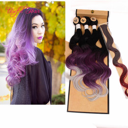 Wholesale Mixed Synthetic Hair Weave - synthetic weaves closure body wave hair weaves 220gram synthetic braiding hair bundle with lace closure,brazilian sew in hair extensions