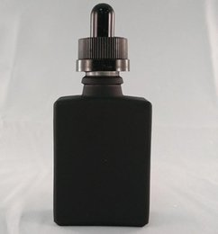 Wholesale Custom Glass Free Shipping - 1PCS 30ml E juice Glass Bottles Grind Arenaceous Black And Childproof Cap Container Cosmetic Bottle Custom LOGO Wholesale Free shipping