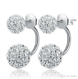 Wholesale Lady Princess Wholesale - High quality Wholesale silver earrings genuine temperament ladies diamond earrings Shambhala micro diamond earrings princess free shipping