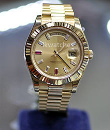 Wholesale Watch Face Sales - Hot sale brand watch stainless steel watches luxury men's wristwatch gold face 117