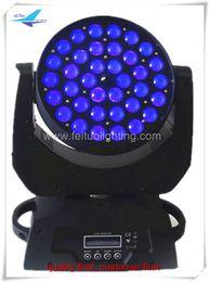 Wholesale Moving Led Wash - 2xlot Popular product wash moving light 36x18w led zoom moving head,6in1 rgbwa uv china moving head light