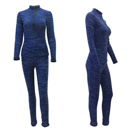Wholesale Crop Top Jogging Suit - two piece track suits Crop Top Women's Clothing set jogging suits Tracksuits fashion cotton tight elastic track suit z61