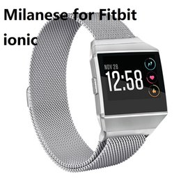 Wholesale Ionic Bracelets - Milanese Loop Band for Fitbit ionic Magnetic Metal Bracelet Watch Band Stainless Steel Wrist Strap Bracelet 20Pair LOT